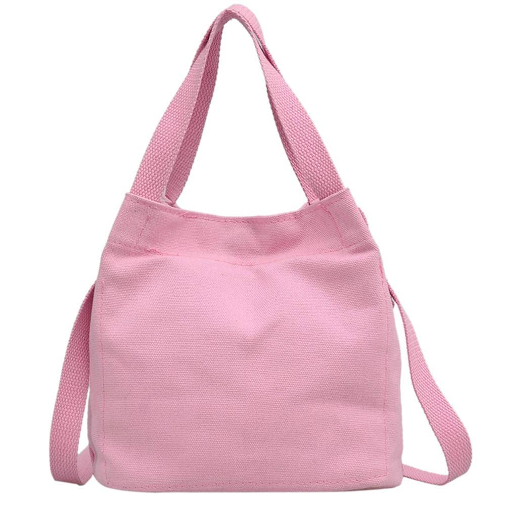 2017 Mini Barrel Bag Cute Pink Canvas Handbags Female Single Shoulder Shopping Tote Women Beach Bags Sac a main Bolsos Mujer