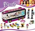 2016 Nueva BELA Amigos Pop Star Tour Bus Bloques de Construcción 684 unids Ladrillos Diy juguetes regalos de Navidad Compatible Legoe Amigo Para niñas