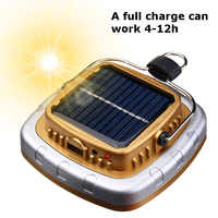 LED Camping Lantern Solar USB Rechargeable Tent Lamp Emergency Light for Outdoor Hiking Garden 88 WWO66