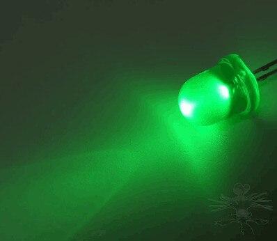 50Pcs F5 5mm Emerald GREEN Straw Hat Superbright LED Light LED lamp