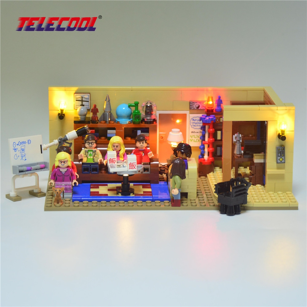 TELECOOL Led Light Building Blocks Kit (Only light set) For Ideas Series The Big Bang Model Lepin 16024 and 21302 george and the big bang