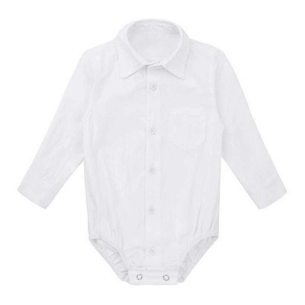 Pasgeboren Baby Boys 'Formele Shirts Gentleman Modis Bodysuit Wedding Party Outfits vetement Bodysuit Outfits Baby Kleding Zomer