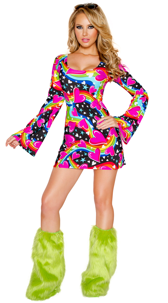 Aliexpress.com  Buy Factory Directly Womens Lady Hippie 60s 70s Hippy Fancy Dress Costumes ...