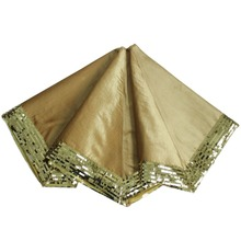 free shipping extra large 50 christmas tree skirt thickness velvet with sequin border gold silver - Gold Christmas Tree Skirt