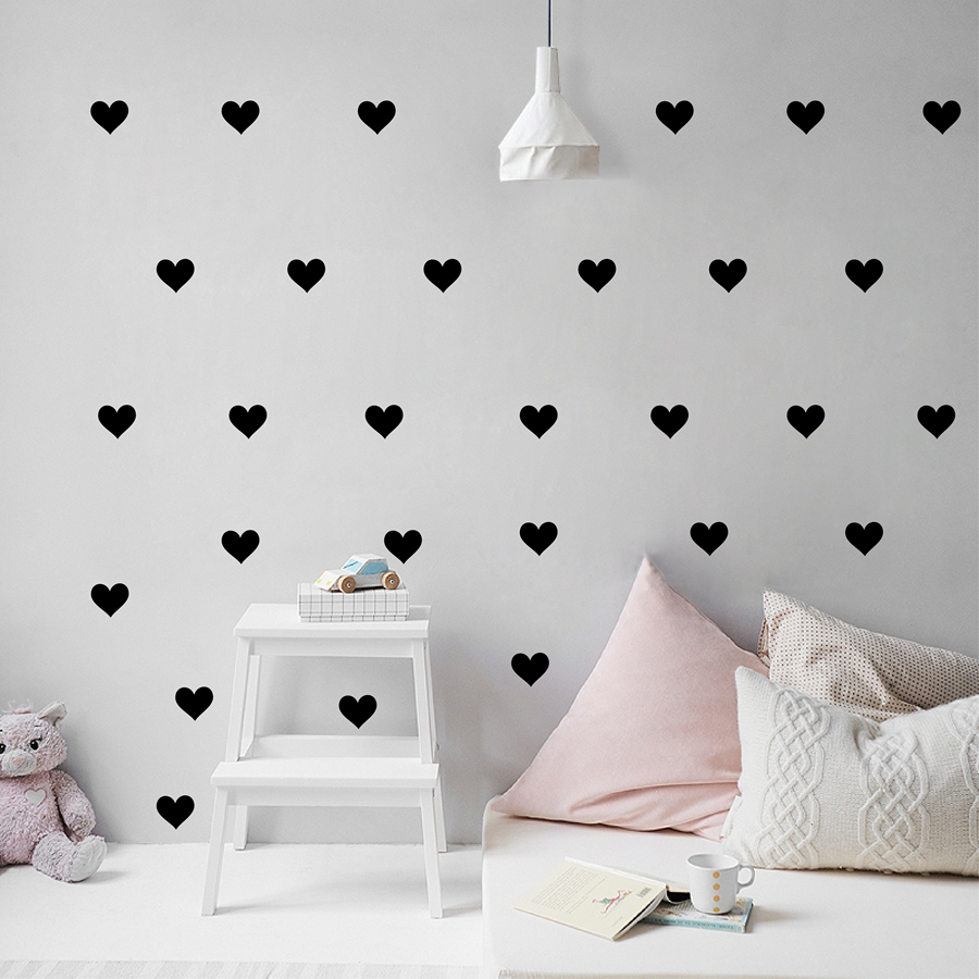 Aliexpresscom Buy Little Hearts Wall Stickers Wall Decals - Wall decals baby girl