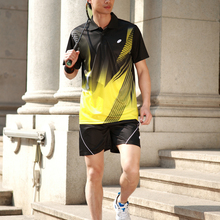Профессиональный настольный теннис/футболка для бадминтона/шорты спортивный комплект спортивная футболка/шорты быстросохнущие для мужчин