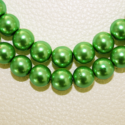 8 мм 30 шт белый черный зеленый фиолетовый Круглые Стеклянные Перламутровые Бусины много цветов на выбор PS-BBD012 - Цвет: Green