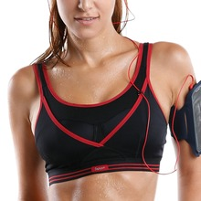Women's High Impact Wire Free Non Padded Racerback Gym Active Sports Bra