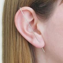 Domino Handgemachte Bar Ohrring Ohr Kletterer Minimalistischen Ohrringe Einfache Ohrringe Edgy Stud Ohrringe