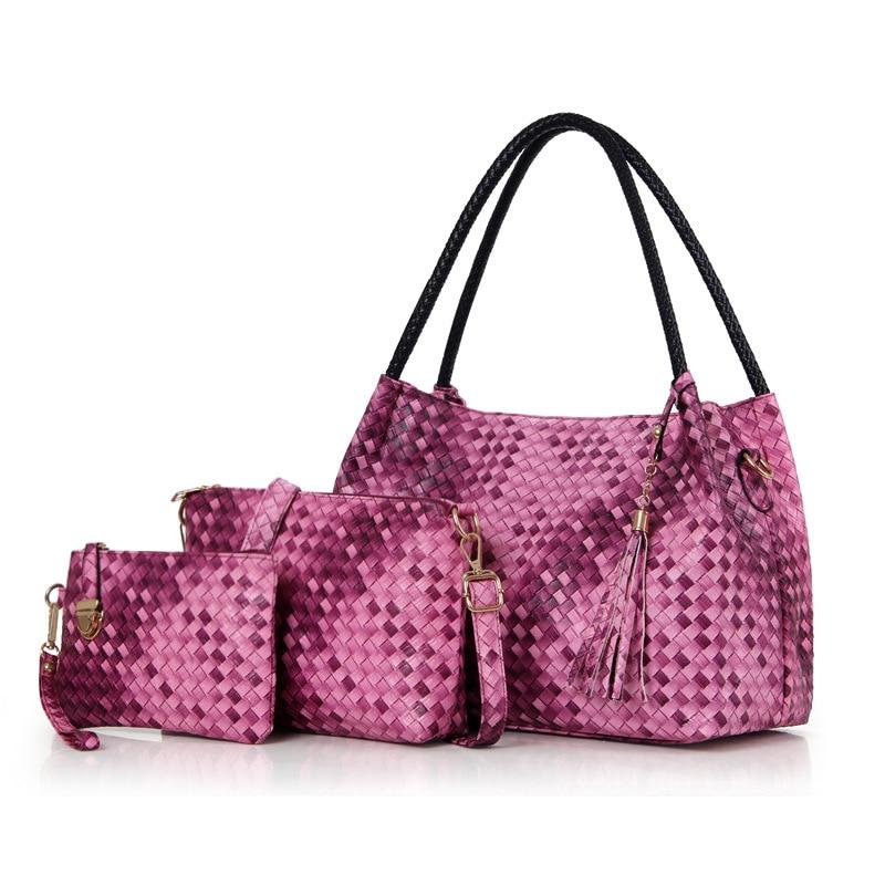 Высокое качество ткань 3 шт./компл. Для женщин сумка Роскошный дизайнерский бренд кросс-Средства ухода за кожей Портфели плеча Сумки женский...