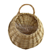 Birds Nest Wall Hanging Basket Wicker Gardening Home Garden Wedding Wall Decoration DC156