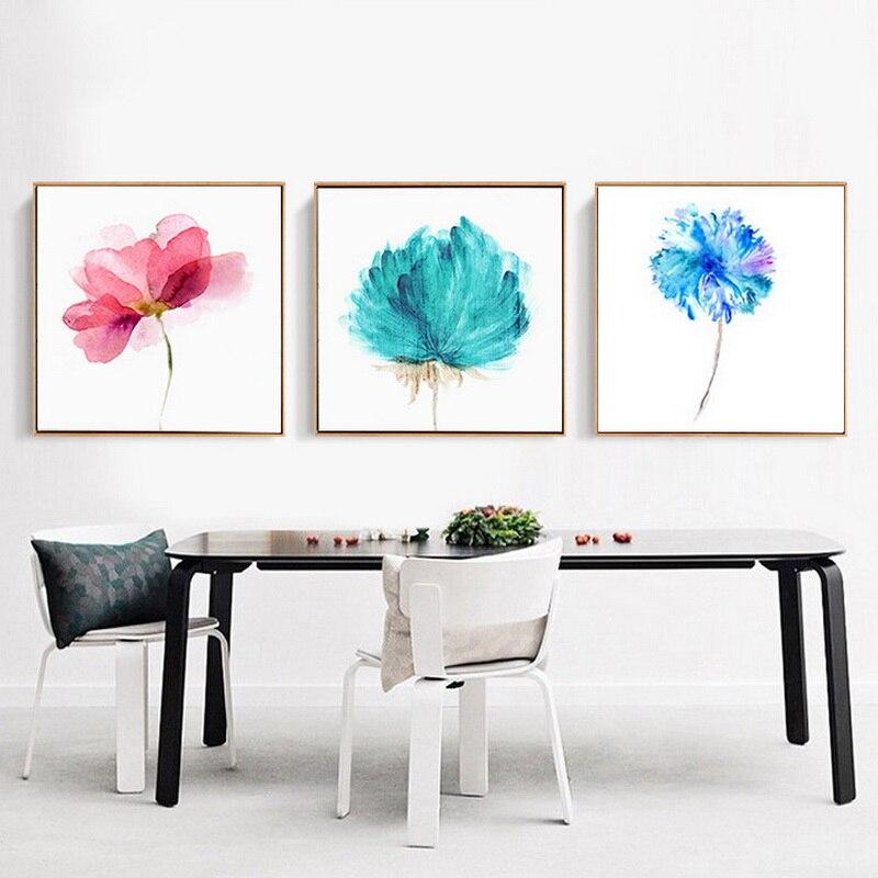 Simple Scandinavian Dining Room Ideas 10: Scandinavian Modern Simple Painting Living Room Decoration