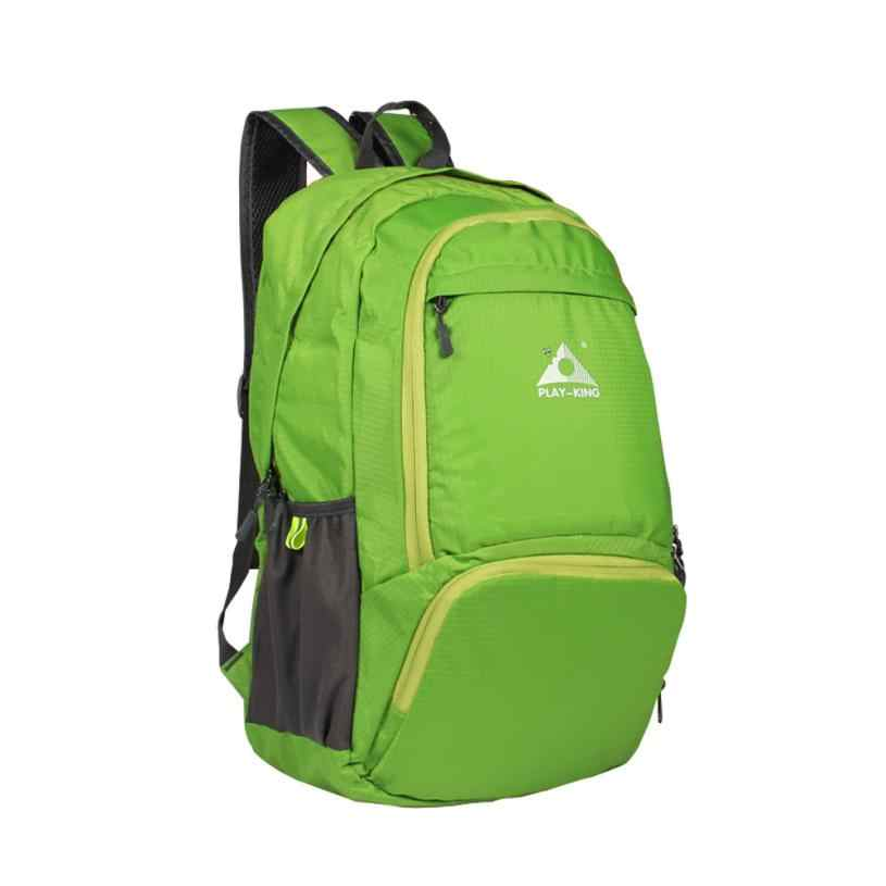 Зеленый складной рюкзак унисекс водонепроницаемый нейлон Большой Открытый Спорт Путешествия Туризм молния кемпинг рюкзак JLY0818