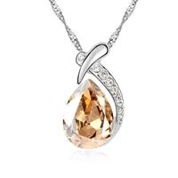 זהב תכשיטים לנשים מים בצורת שרשרת תליון זהב לבן תכשיטי נשים השנה צבע סיטונאי