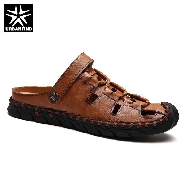 Brand Fashion Men Summer Leather Sandals Size 38-44 Retro Rome Style Man Outdoor Shoes S ...