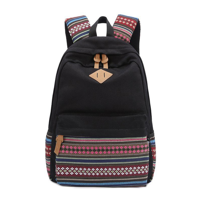 d9c2609799 Sunborls Travel School Backpacks Korean National Wind Vintage Canvas  Printing Backpack Women Female Teenage Girls Wholesale