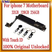 С отпечатком пальца для iPhone 7 материнская плата оригинальная разблокированная материнская плата для Бесплатный iCloud материнская плата с/без кнопки home MB