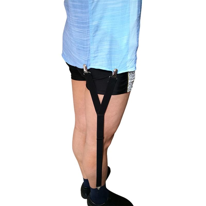 1Pair Business Men Shirt Stays Garters Suspenders Braces For Shirts Gentleman Leg Elastic Men Shirt Suspenders Garter Holder
