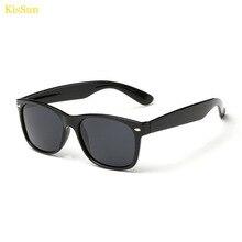 KisSun Brand 11Colors Way UV400 fare Polarized Mirror Sunglasses Female Retro Fashion Black G ray Men Oculos Sun Glasses KS2140G