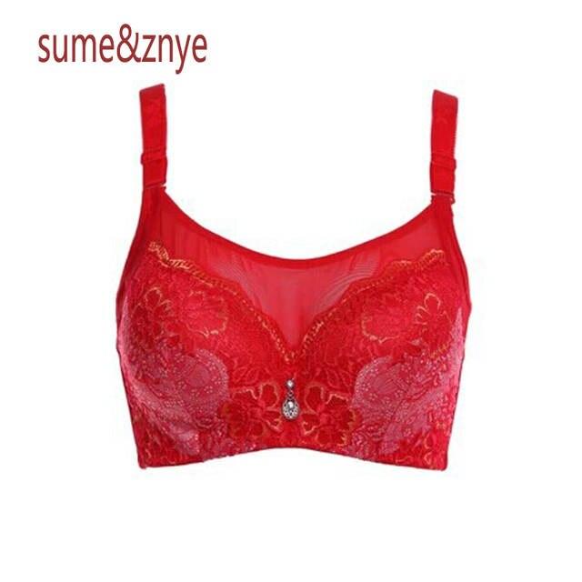 f72985b55e Underwear Woman Push up Bra set High quality Embroidery flowers sexy lace  bra big Large Size
