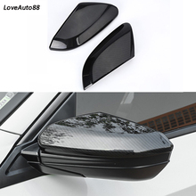 Car Side Mirror Caps Cover Car rear view Rearview Side Glass Mirror Cover Trim Frame For Honda Civic 10th 2016 2017 2018 2019 цена и фото