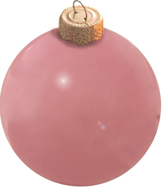 Elegant Free Shipping Event Party Bauble Ornaments Christmas Xmas Tree Glass Balls  Decoration 80mm Pale Pink Ball
