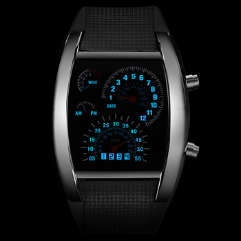 Fashion Mens Watch Unique LED Digital Watch Men Wrist Watch Electronic Sport Watches Clock relogio masculino erkek kol saati