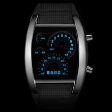 Fashion Men's Watch Unique LED Digital Watch Men Wrist Watch Electronic Sport Watches Clock reloj hombre relogio masculino