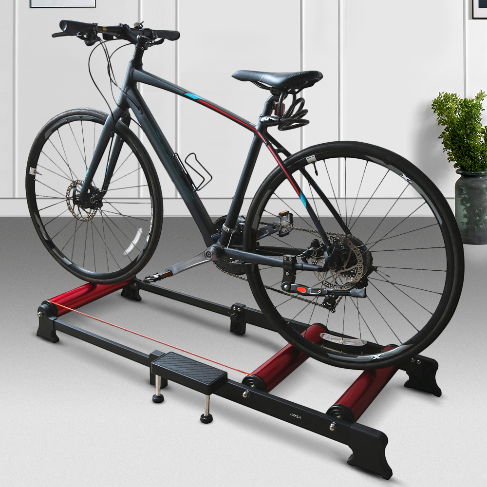 Lixada <font><b>Bike</b></font> Training Station <font><b>Indoor</b></font> Falten Fahrrad Radfahren Übung Station Fitness Roller <font><b>Bike</b></font> <font><b>Trainer</b></font> Roller Training Tool image