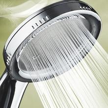 1 boquilla presurizada, cabezal de ducha ABS, accesorios de baño, ahorro de agua de alta presión, cabezal de ducha cromado