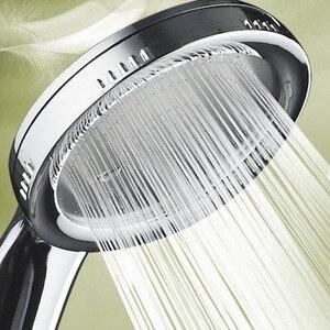 1PC Pressurized Nozzle Shower Head ABS Bathroom Accessories High Pressure Water Saving Rainfall Chrome Shower Head