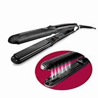 2018 Black Steam Hair Straightener Irons Steam Flat Iron Vapor Fast Heating Hair Care Styling Tools