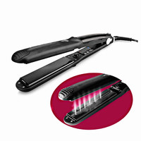 2018 Black Steam Hair Straightener Irons Steam Flat Iron Vapor Fast Heating Hair Care Styling Tools
