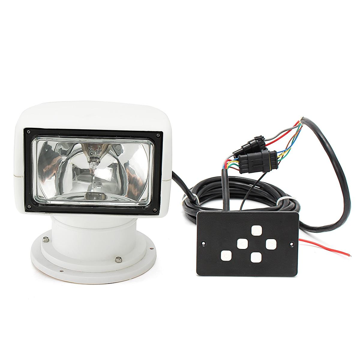 Image 2 - Smuxi Spotlight 12V 100W 2500LM 3200K Marine Searchlight Light Bulb PC+Aluminum Remote Control Multi angled White-in LED Spotlights from Lights & Lighting