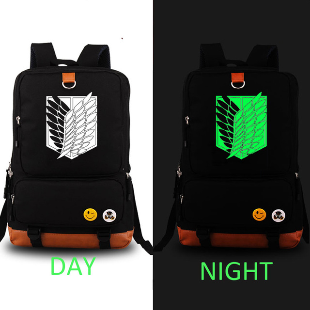 Cosplay Attack on Titan NOCTILUCENT Backpack Unisex Fashion Backpack Laptop Backpack school bag Daily backpack
