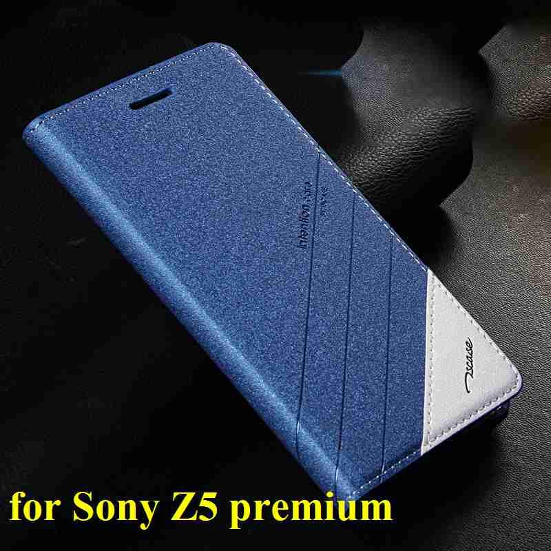 imágenes para Para Xperia Sony z5 premium Original Tscase Marca, Cubierta Del Soporte Del Tirón de Cuero imán de La Caja Para Sony Xperia Z5 Premium/Z5 Plus/Z5 +