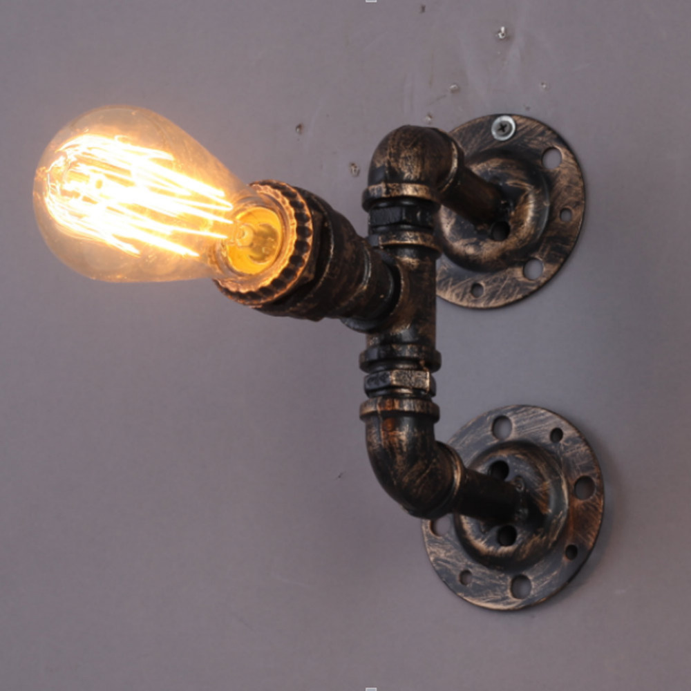 appliques vintage e27 plaqu loft lampe de mur de fer rtro industrielle salle de bains escalier antique conduite deau de la la - Appliques Vintage Industrielles Pour Salle De Bain