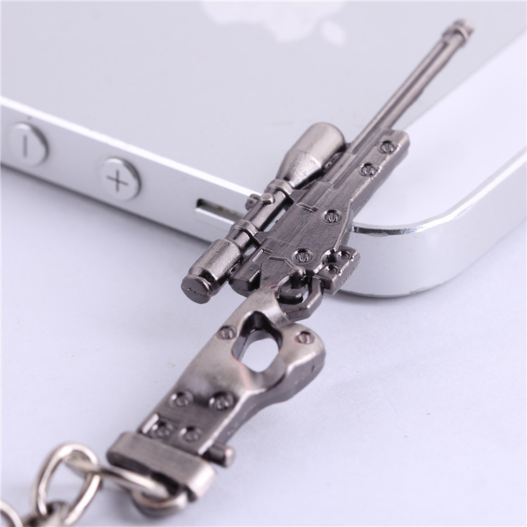 CSGO AK47 AMW Gun KeyChains Tritium Metal CS GO Keyring Key Holders For Best Friends Chaveiros Llaveros For Men Porta Porte Clef
