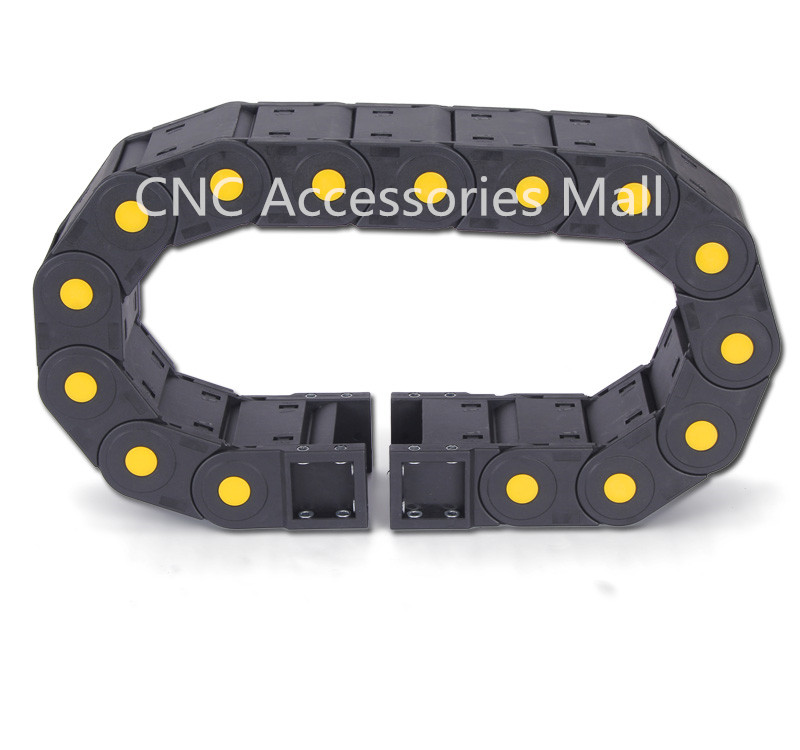 цена на 1 meter 45*125/45*150/45*175/45*200 Towline Enhanced Full-Closed Drag Chain with End Connectors for CNC Router Machine Tools
