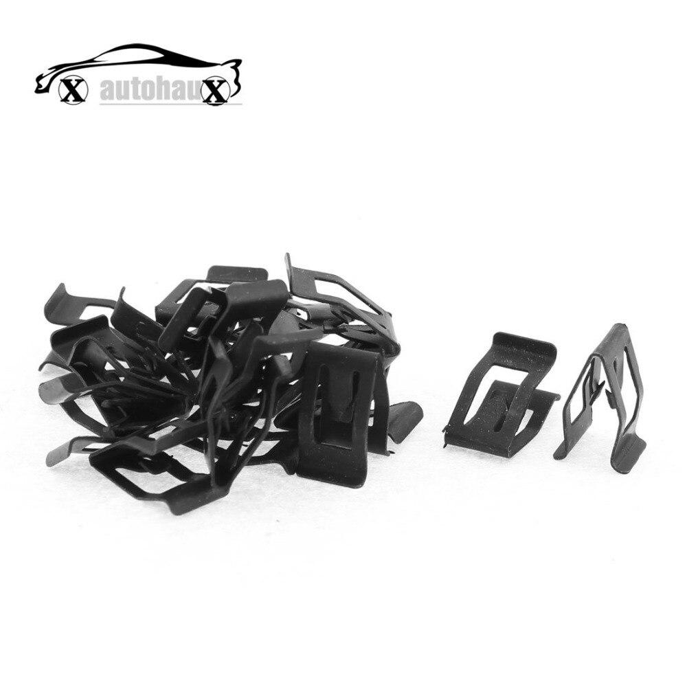 x autohaux 20pcs black auto car dash dashboard console trim metal retainer in auto fastener. Black Bedroom Furniture Sets. Home Design Ideas