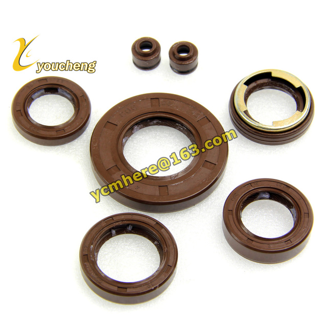 Set of Oil Seal 100cc Engine 1P49QMG Fluorine Rubber Material Crankshaft Oil Seal Scooter JOG100 Modify QCYF-149