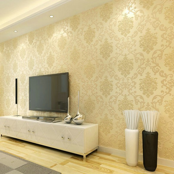 Damask Wallpaper For Walls Roll Paper Gold Silver Papel De Parede Para Sala  Chinese Modern Glitter Wallpaper Mural Living Room  In Wallpapers From Home  ... Awesome Ideas