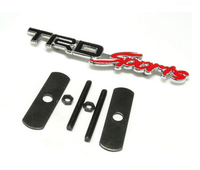 3D Metal Toyota TRD Sports TRDSports Front Grille Badge Emblem Decal