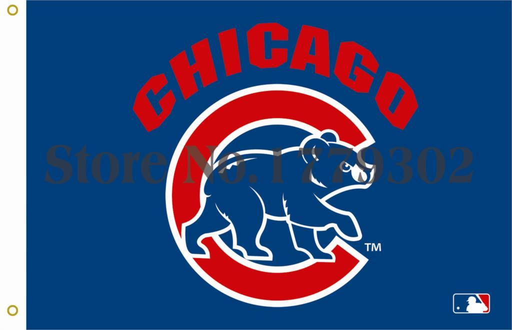 Chicago Cubs Stars Flag 3ft x 5ft Polyester NFL Banner Flying Size  144* 96cm Custom flag