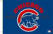 Чикаго кабс звезды флаг 3ft x футов полиэстер нфл баннер развевается размер 144 * 96 см пользовательских флаг