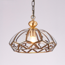 Modern Led Pendant Light All Copper Glass Hanging Lamp For Restaurant Studyroom  Bedroom Hanglamp Lampara Industrial Vintage