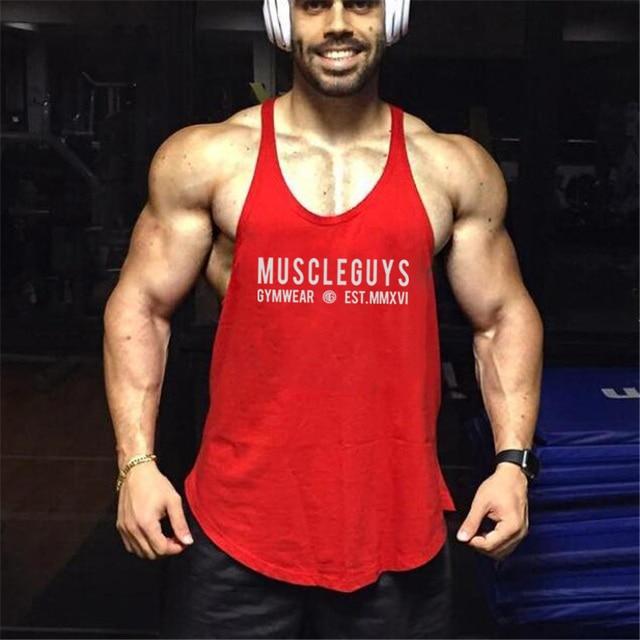 eebb2a1872697 Summer Gyms Vest Men Fitness Bodybuilding Stringer Tank Tops Fashion Mens  Crossfit Clothing Loose Y Back Sleeveless Shirts