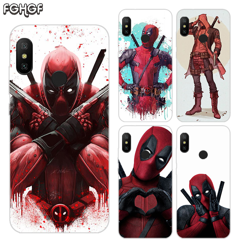 Printed Silicone Case For Xiaomi Xiomi Redmi 4 4A 4X 5 5A 5 Plus 6 Pro 6A S2 Note 2 3 4 5 6 Heart Cover Marvel Hero Deadpool in Fitted Cases from Cellphones Telecommunications