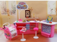New Big Style Girl Gift Plastic Play Set Candy And Ice Cream Shop Gift Set Doll