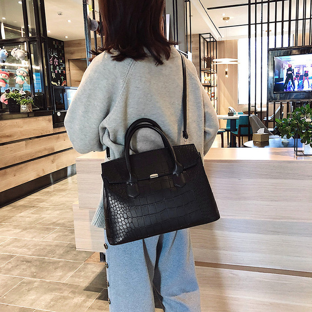 Big Female Tote Handbag Crocodile PU Leather Women Shoulder Bag Luxury Brand Designer Ladies Large Capacity Crossbody O Hand bag